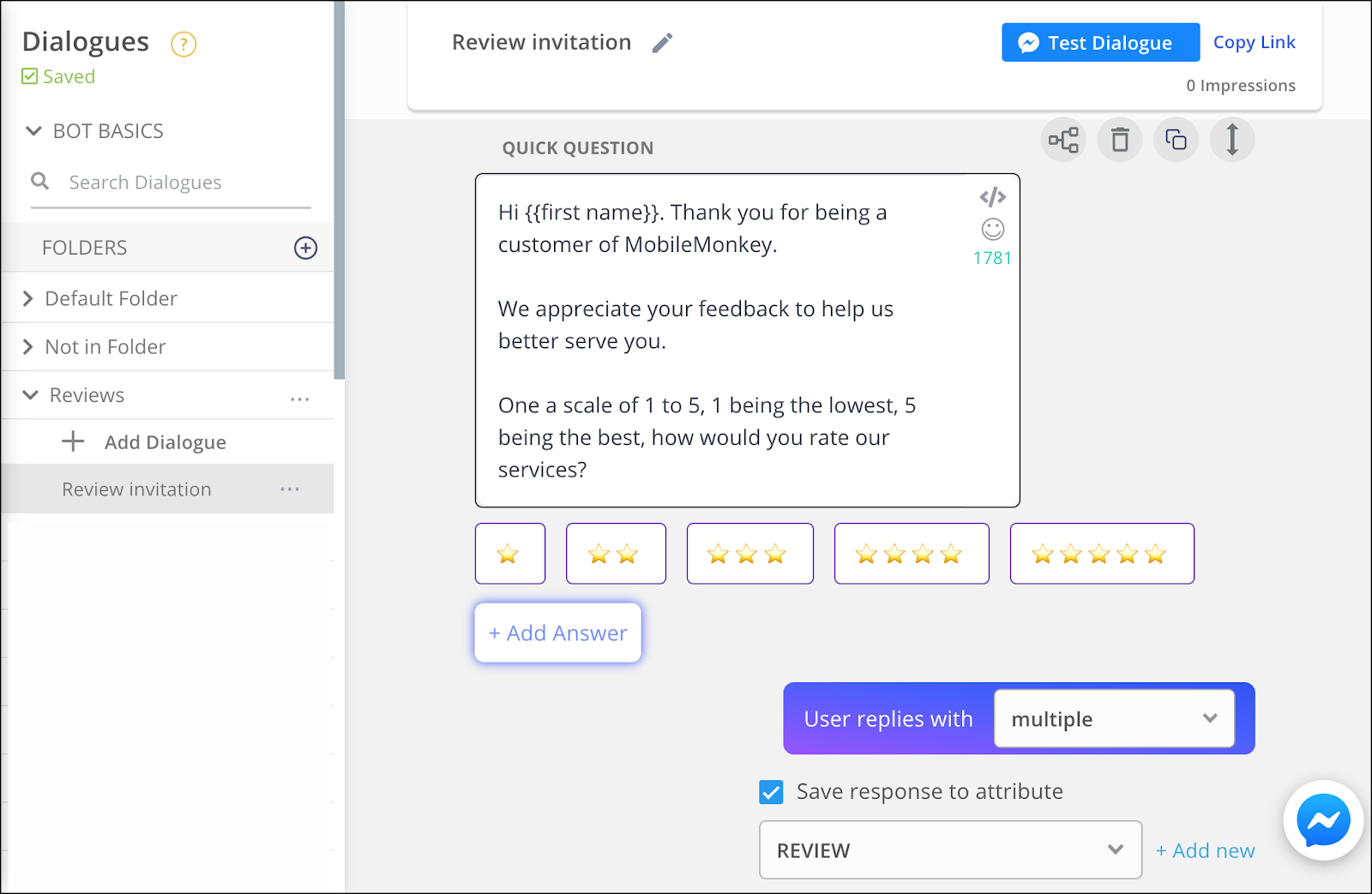 review invitation bot