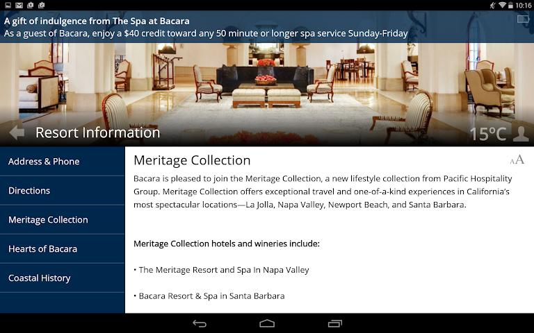 android Bacara Resort and Spa Screenshot 4