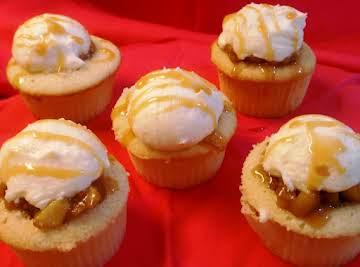 Apple Pie a'la Mode Cupcakes