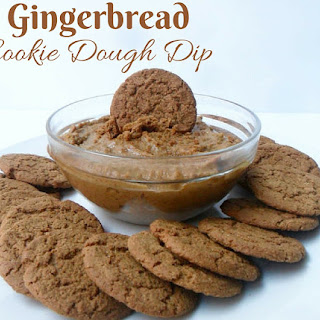 Healthy Gingerbread Cookie Dough Dip.