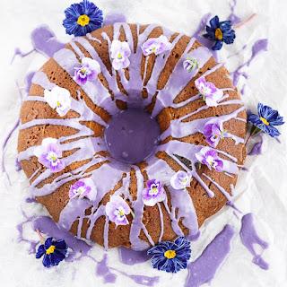Lavender & Honey Bundt Cake for Mother's Day.