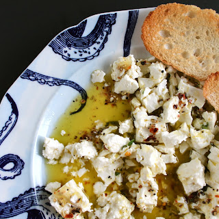 Spiced Feta in Olive Oil