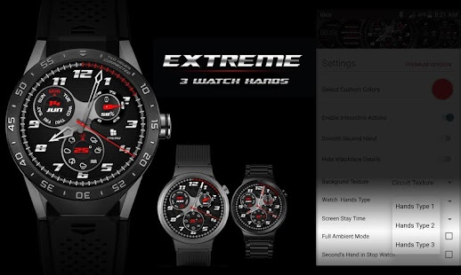 Watch Face - Extreme Interactive - náhled