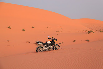 Photo: Covered in the fine Saharan sand, Francois loves the dunes.