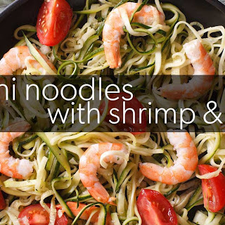 Zucchini Noodles with Shrimp & Tomato