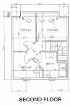 Photo: 2nd floor blueprint