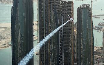 Photo: ABU DHABI, UNITED ARAB EMIRATES - MARCH 27:  Paul Bonhomme of Great Britain in action during the Red Bull Air Race day on March 27, 2010 in Abu Dhabi, United Arab Emirates.  (Photo by Mike Hewitt/Getty Images for Red Bull Air Race)
