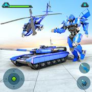 Helicopter Transform War Robot Hero: Tank Shooting