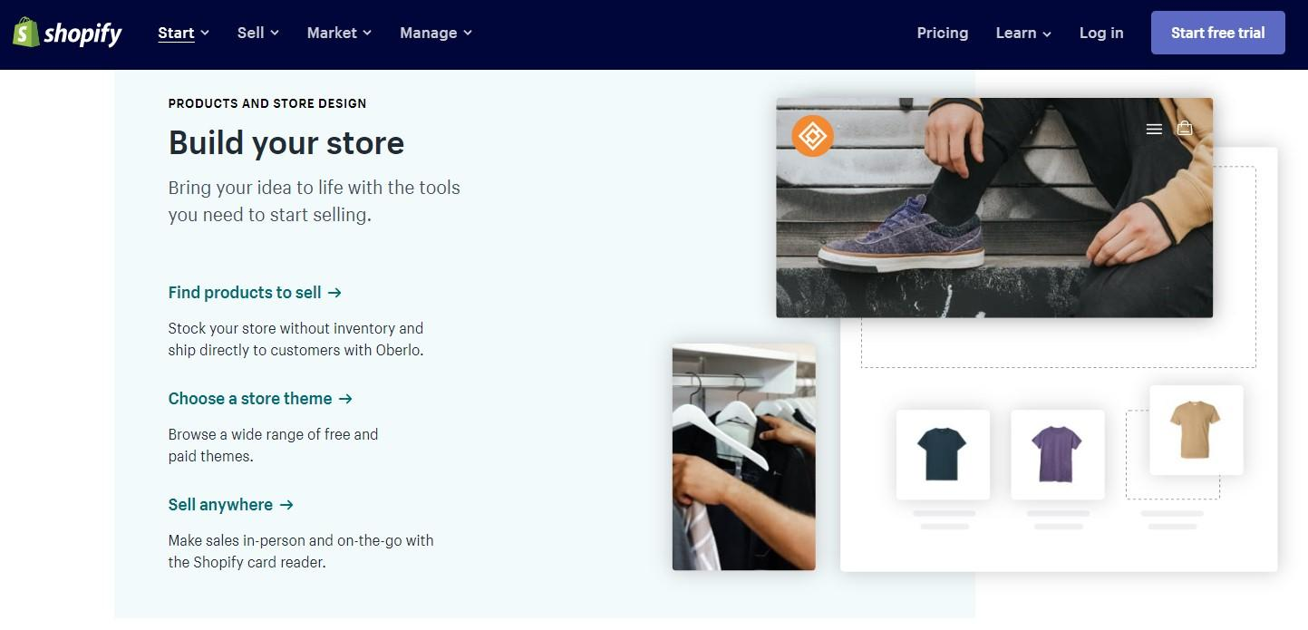 Building a store with Shopify