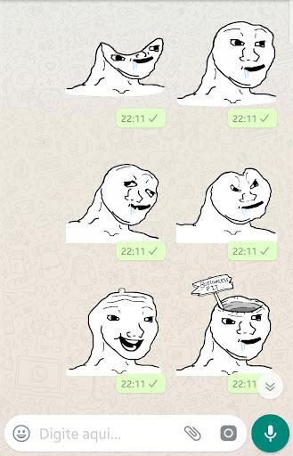 Brainlet Meme stickers WAStickerApps download 2