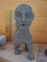 Photo: 'Paradox' as raw clay, I took photos because I wasn't sure if it would even survive the bisque firing :-P