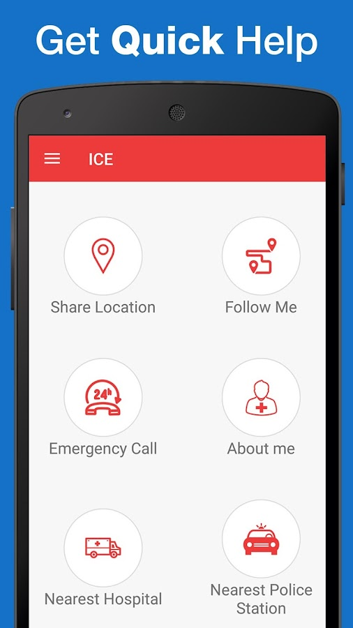 ICE : Personal Safety App- screenshot