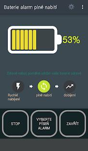 Baterie alarm plné nabití - náhled