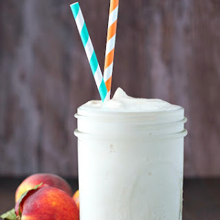Peaches and Cream Protein Smoothie.