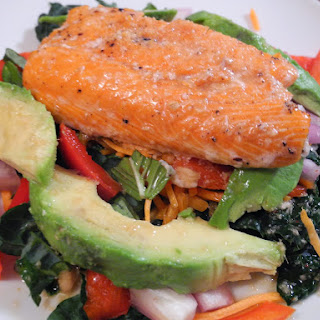 Thai-Inspired Salmon and Kale Salad