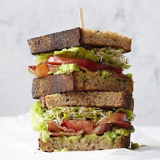 BLATs (Bacon-Lettuce-Avocado-Tomato Sandwiches).