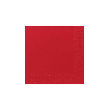 Servett 33x33 3-lag röd 125/fp