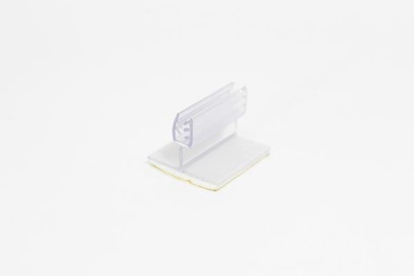 pinza plástica sujeta gráficas abatible de 2,5 x 2 cm con adhesivo espumoso