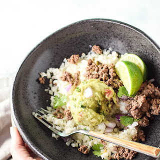 Mexican Ground Beef With Cauliflower Rice.