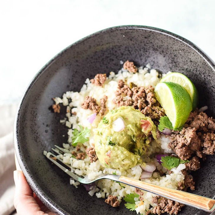 Mexican Ground Beef With Cauliflower Rice