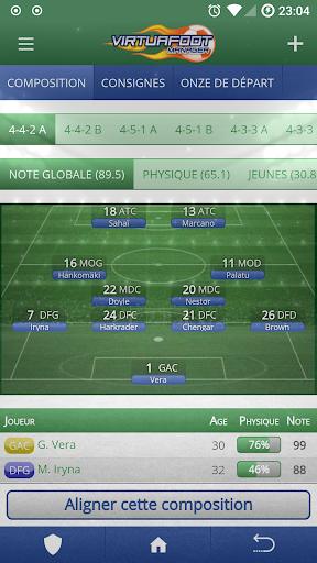 Virtuafoot Football Manager  captures d'u00e9cran 2