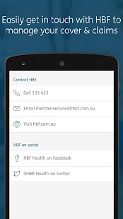 HBF Health- screenshot thumbnail