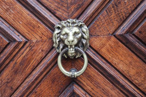 Kotor-door-knocker.jpg - A vintage door knocker in Kotor's Stari Grad, or Old Town.