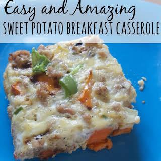 Sweet Potato Breakfast Casserole - Dairy and Wheat Free.