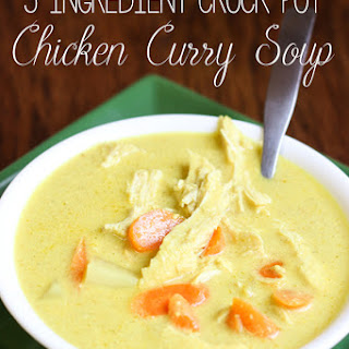 5 Ingredient Crock Pot Curry Chicken Soup