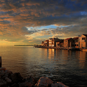 When the day is done by Davor Strenja - Landscapes Travel ( red, bibinje, sunset, sea, beach, croati, oramge )