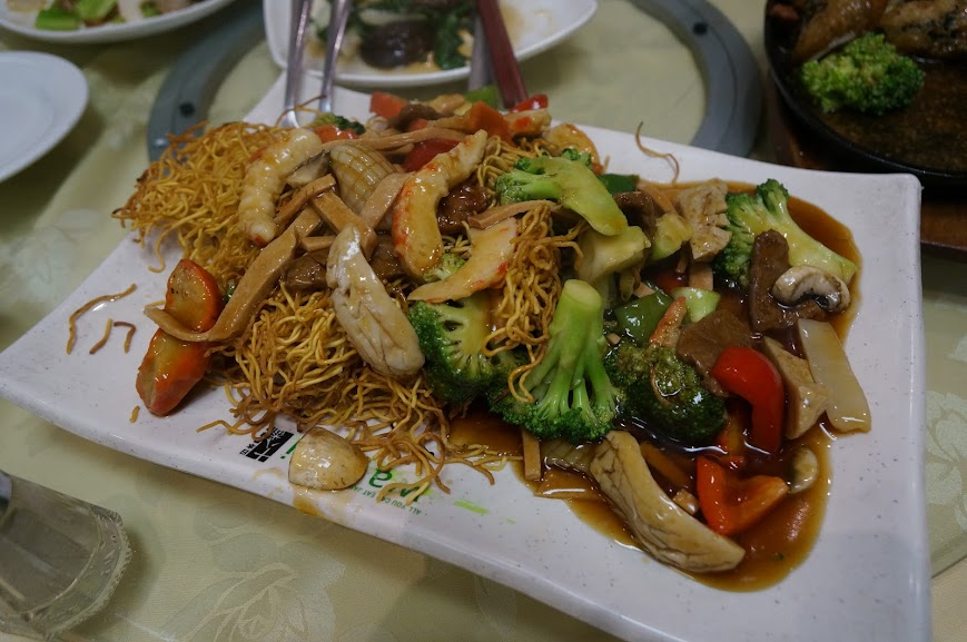 Stir-fried noodles with
