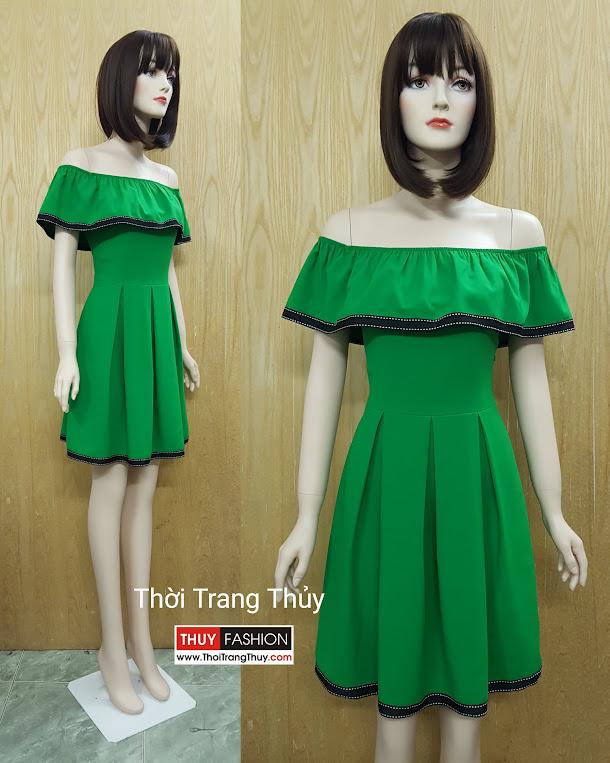 Váy hở vai xuân hè - Váy suông và váy xòe tại Thời Trang Thủy