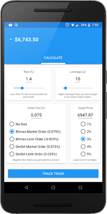 BitCracked - Bitmex Bitcoin Entry Exit Calculator – (Android Apps