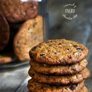 Crunchy Paleo Chocolate Chip Cookies.