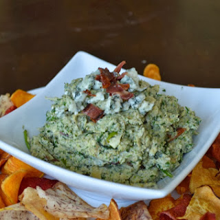 Paleo Bacon Blue Cheese Spin Dip.