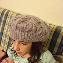 Photo: Better depiction of the color of Ashwyn beret in Reverie from Knit Picks.
