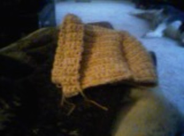 turn hat inside out and peg stitch fold for hat front