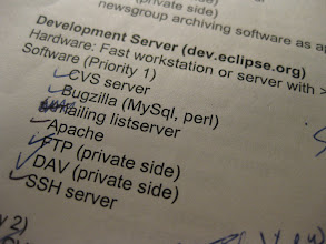 Photo: Requirements for original eclipse.org infrastructure