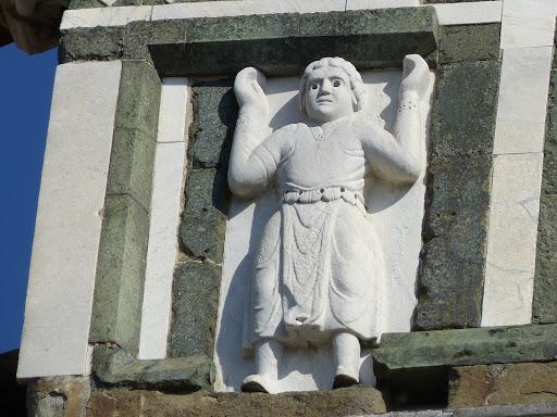 San Miniato al Monte, Firenze, la facciata, particolare