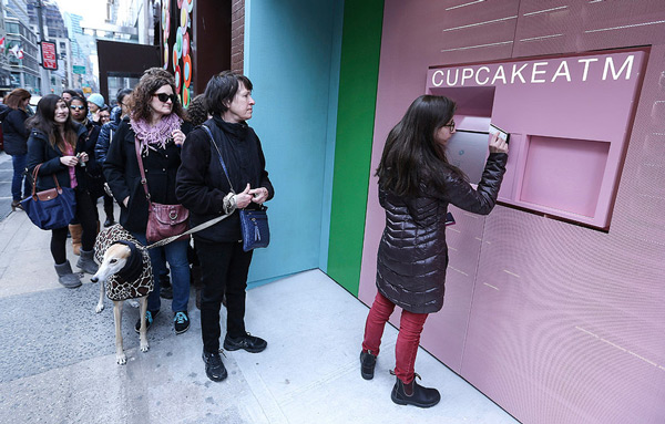 Cupcake ATMs are the latest indicator of the rise of self-service economy.