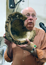 Photo: Bill complained that it was a little plain for a burl but looks very interesting from here.  His question was about what's the best way to remove the bottom material in a deep vessel like that.