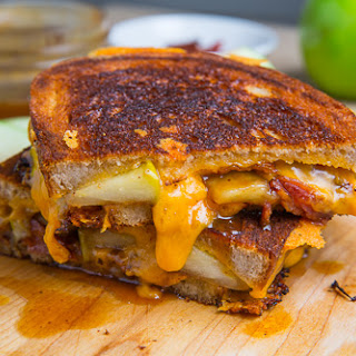 Caramel Apple Grilled Cheese Sandwich (with Bacon)