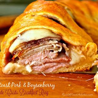Ham, Roast Pork or Turkey and Boysenberry Monte Cristo Breakfast Ring.