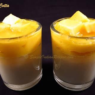 Mango Panna Cotta.