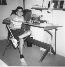 Photo: SWL - before first ham license - ca. 1968. Heathkit GR-64 receiver and GD-125 Q-Multiplier