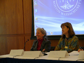 Photo: Michèle V. Cloonan, (GSLIS Dean and Professor, Simmons); Ann Wolpert (Director of Libraries, MIT)