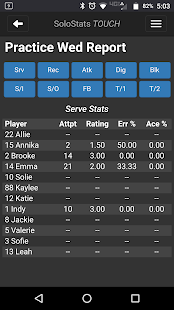 SoloStats Touch Volleyball- screenshot thumbnail