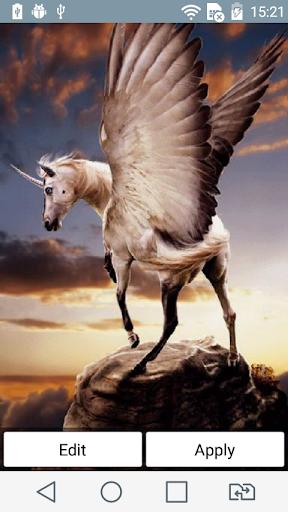 White pegasus live wallpaper
