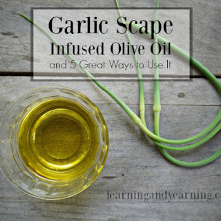 Infused Oil With Dehydrated Scapes