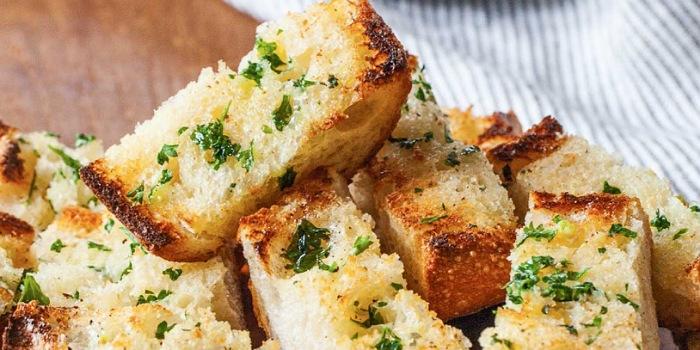 Recipe for garlic bread